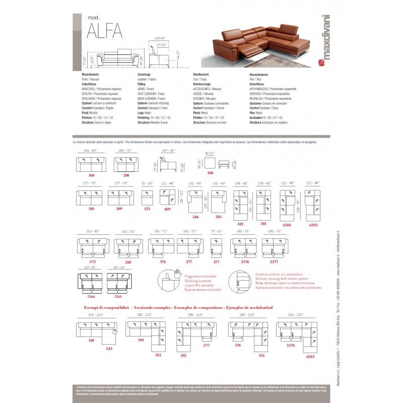 Alfa Reclining Sectional