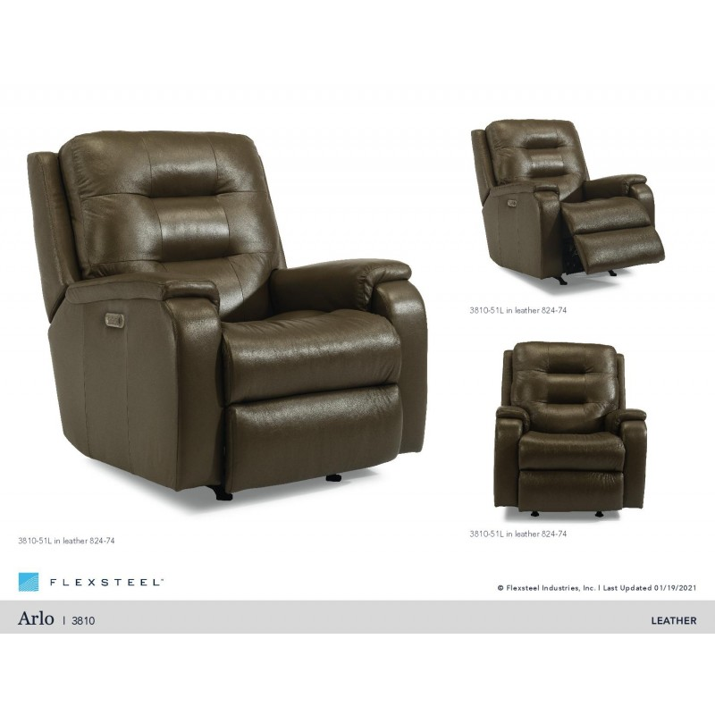 ARLO LEATHER POWER RECLINER