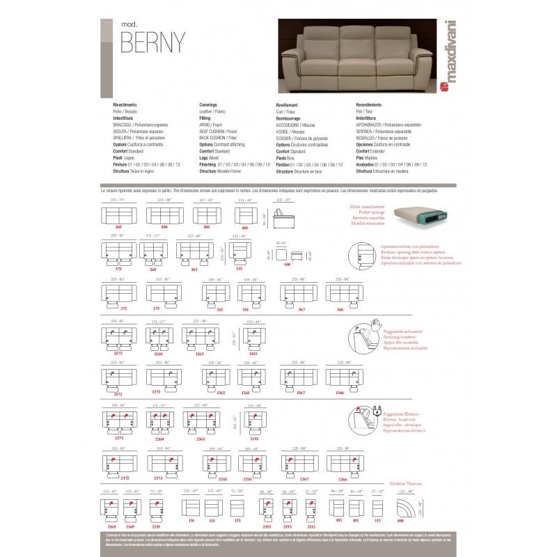 Berny Leather Reclining Loveseat