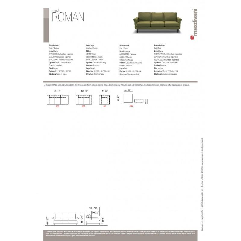 ROMAN STATIONARY SOFA LEATHER GROUP